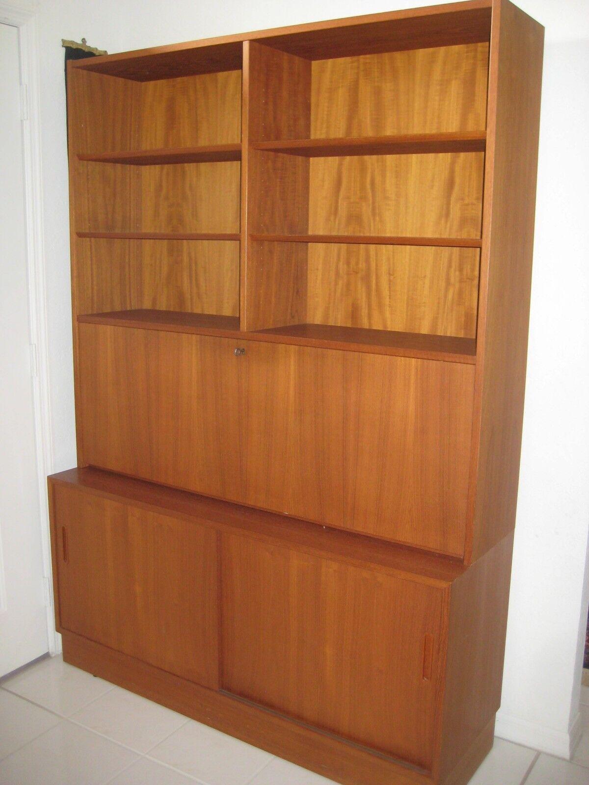Image of: Danish Mid Century Modern Teak Bookcase For Sale Online Ebay