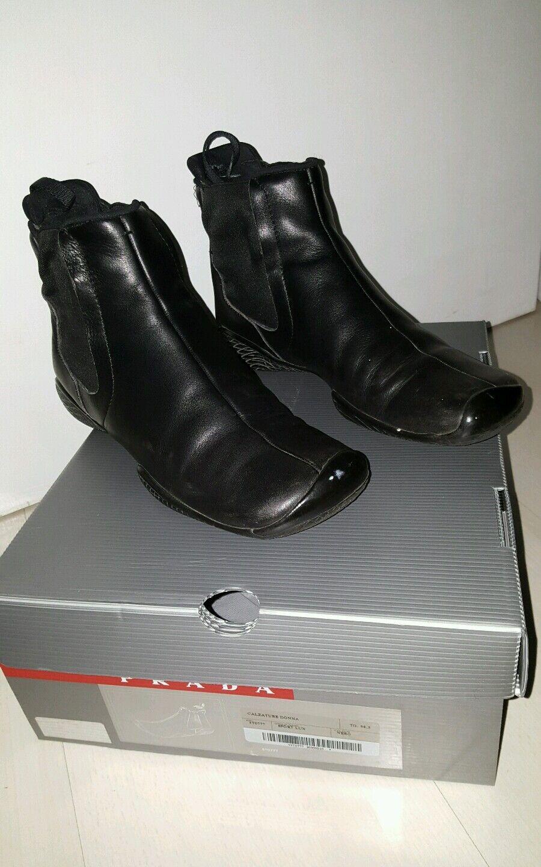 Prada Damen Stiefelette gr. 38,5 top OVP schwarz