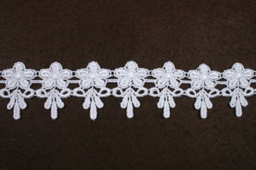 Lily 1.75 inches Ivory and White Venice Lace Trim By Yardage