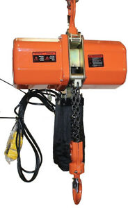 2-ton-Electric-Chain-Hoist-4000-LB-electric-crane-hoist-2-ton-230V-single-phase
