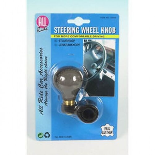 Delux Leather Third Hand Steering Wheel Knob