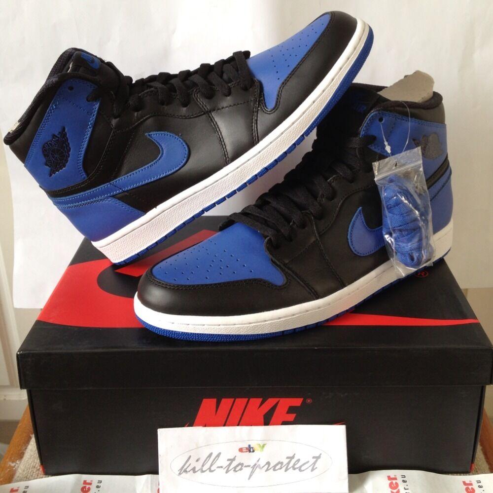 NIKE og JORDAN 1 og NIKE royal bleu noir uk 7 us 8 9 10 11 12 13 legit 555088-085 2013 1f6edf
