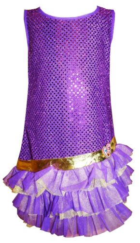 Lilac Purple Party Dress Sequin Sparkly fancy costume Disco Charleston New