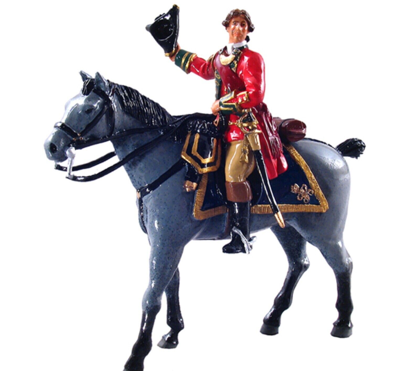 Britains 50010c British 45th Rgt Officer Mounted on a Grey 1784-1763