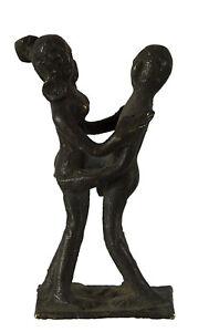 Statuetta Erotico Kamasutra -statuetta Coppia Nudo Posizione Donna -ottone- S7-
