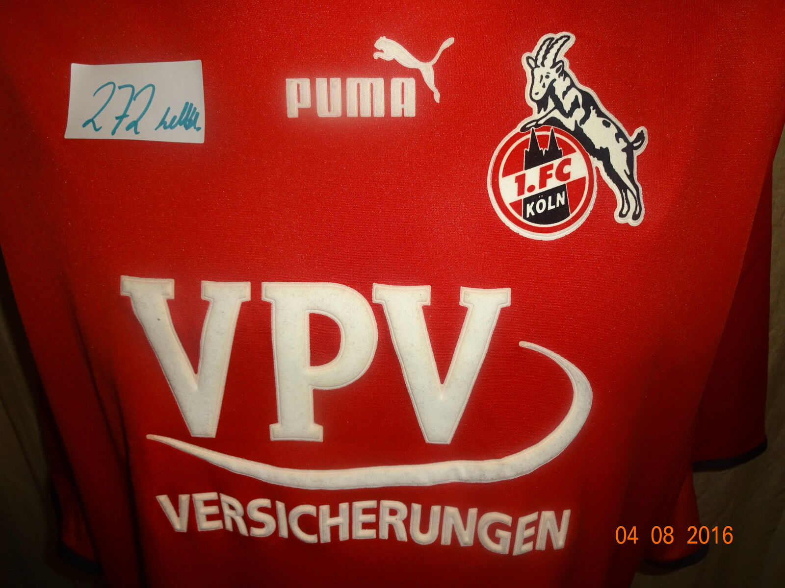 1.FC Köln Puma Matchworn Trikot 01 02 02 02  VPV Versicherungen  + Nr.5 Bulajic Gr.XXL 378d6f