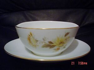 RC-Japan-409-CALISTA-Sauce-Gravy-Boat-With-Attached-Saucer