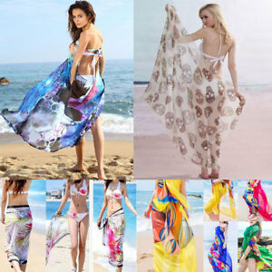 df3043e0a9 Women s Summer Pareo Dress Sarong Beach Bikini Swimwear Cover Up ...