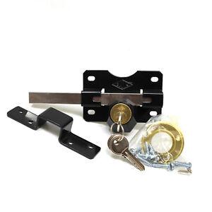 Gatemate 70mm Security Rim Lock for Garden Gate//Shed//Garage Long Throw Bar SS
