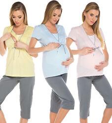 2in1 Stillpyjama Stillschlafanzug Umstandspyjama 100% Baumwolle Pyjama sets 7018