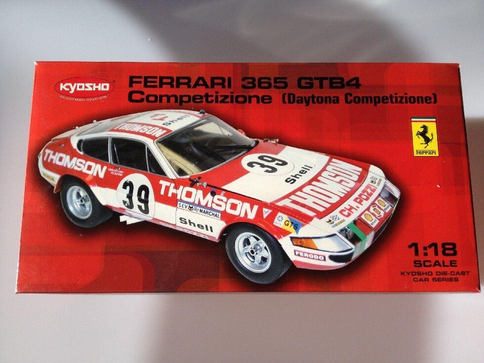 1 18 Ferrari 365 GTB4 Competizione Kyosho 08164F 08164F 08164F 49ea41