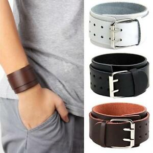 Fashion Jewelry Aspiring Lederarmband Geflochten Edelstahl Panzerkette Echtes Leder Armband Schwarz Bracelets