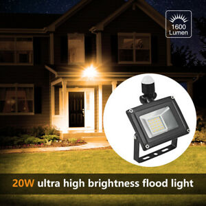 20-W-Motion-Sensor-Flood-Light-Outdoor-Waterproof-Porch-Security-Safety-LED-Lamp