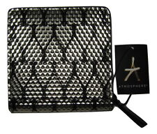 Ladies Fashion Purse Black Silver Heart Gold Zip Money Elegant Wallet Clutch NEW