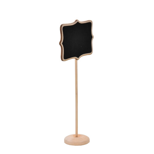 10X Mini Blackboard Chalkboard Rectangle With Angle Wedding Table Number Sign TC