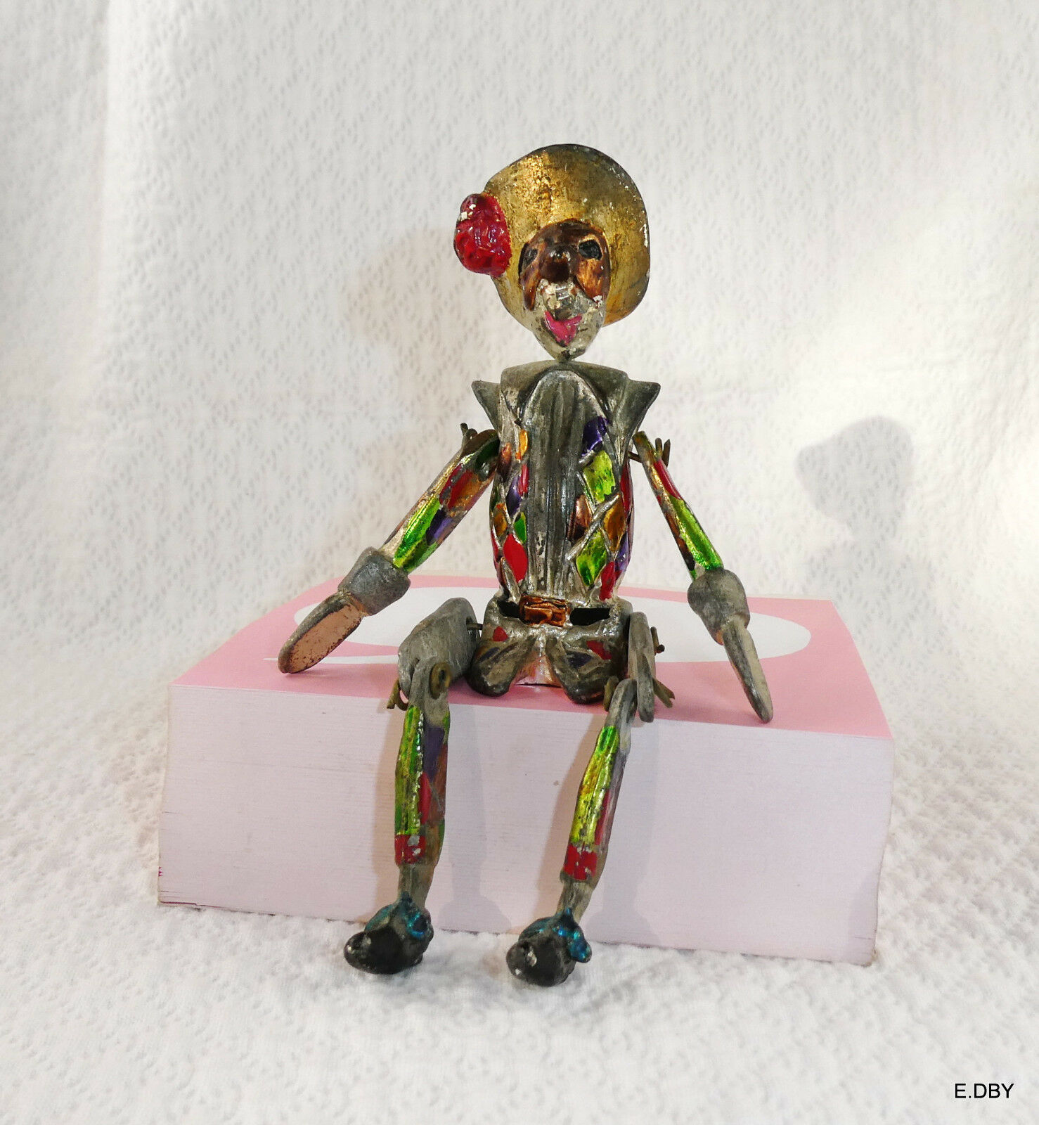 Character figurine old  harlequin articulated lead  promotions passionnantes