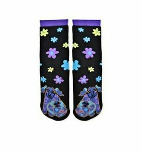 Dog-and-Doggie-K-Bell-Tube-Slipper-Sock-New-Women-Size-9-11-Laurel-Burch-Fashion