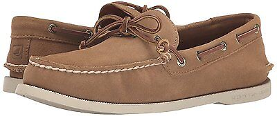 STS13160 Size 9 Tan Men/'s Sperry Authentic Original 2-Eye Wedge Boat Shoe