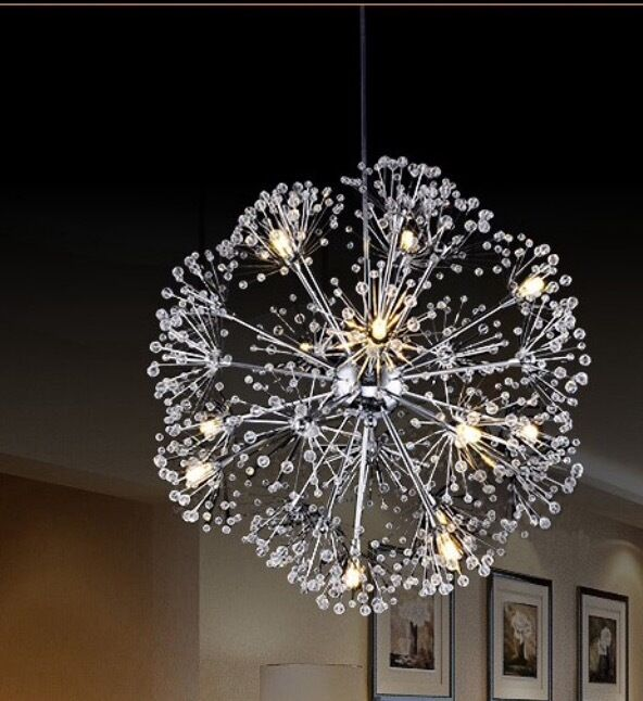Dandelion Flower Star Light  High Quality  K9 Crystal Ball Pendant Lamp