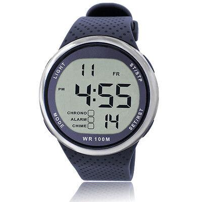 Men Sports Watch Digital WR100M Swim Watch Led Light Outdoor Wristwatch