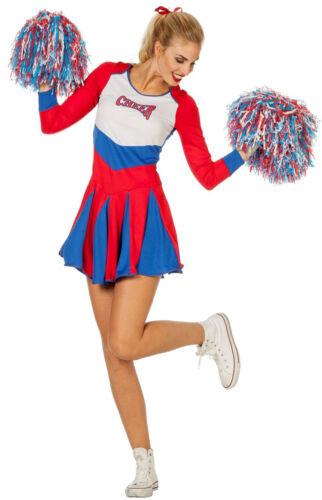 American Cheerleader Girlie Kostüm NEU Damen Karneval Fasching Verkleidung Kos