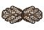 Ferme Or Antique Costume traditionnel Boucle Tablier métal du 100mmx40mm âme 30 mm