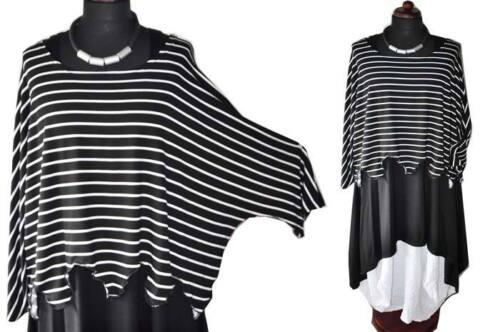 46 xxxl Små Stripes 48 xl 44 xxl Layered 50 52 Sweater The Big Wave Look Tunika nw1SqTz