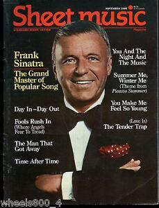 Details about Sheet Music Magazine November 1986 Standard Piano / Guitar  Frank Sinatra