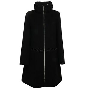 bda63c3317 Details about F8726 cappotto donna EMPORIO ARMANI wool black jacket coat  woman
