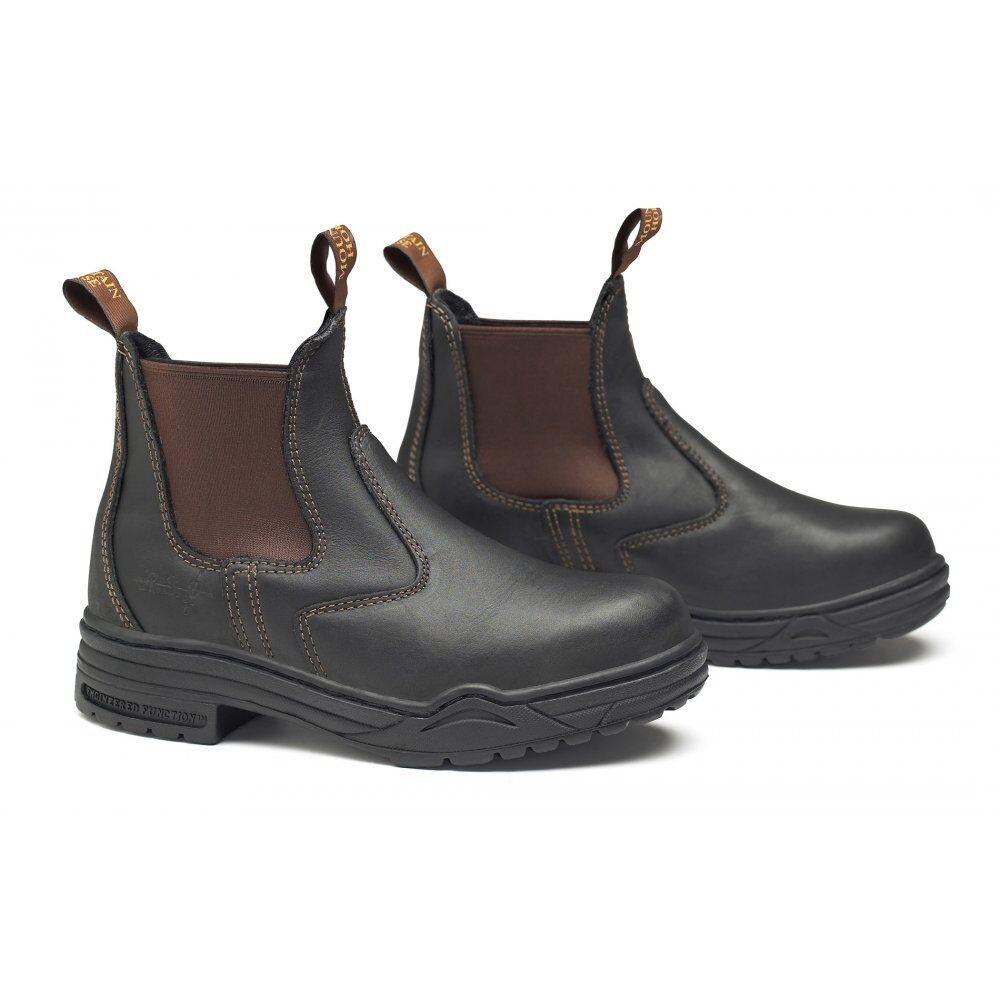 Mountain Horse Projoectora Jodhpur botas marrón Con Puntera De Acero