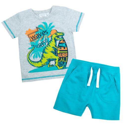 Con Dinosauro Estate T-shirt E Pantaloncini Set ~ 2-6 anni