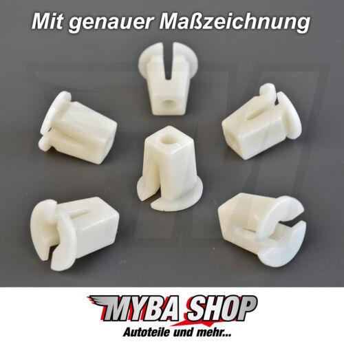 10x weiße Spreizmutter Universal Clips für VW Karosserie1658275925