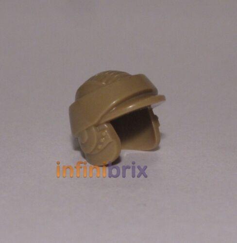 Lego Endor Rebel Commando Helmet Plain Dark Tan with No Green Very Rare 4550303