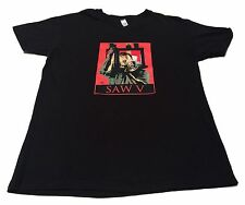 (L) SAW V Movie Black Graphic T-Shirt Horror Next Level