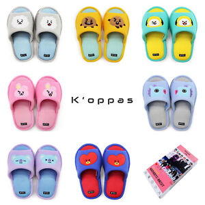 Official-BT21-Soft-Mesh-Slippers-Indoor-Summer-Edition-Kpop-BTS-By-Line-Friends