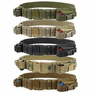 Condor-TB-Police-SWAT-Tactical-Duty-Combat-Belt-w-2-M9-1911-Pistol-Mag-Pouches