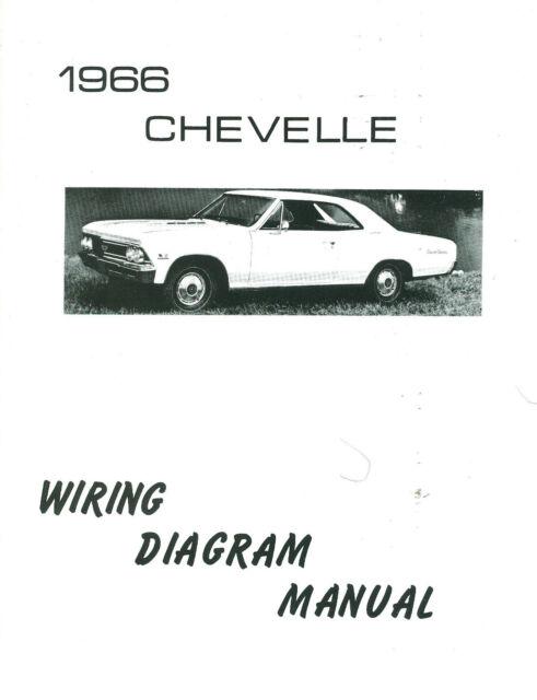 1966 66 Chevelle  El Camino Wiring Diagram Manual