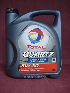 total quartz ineo ecs 5w 30 motor l motoren l 5 liter. Black Bedroom Furniture Sets. Home Design Ideas