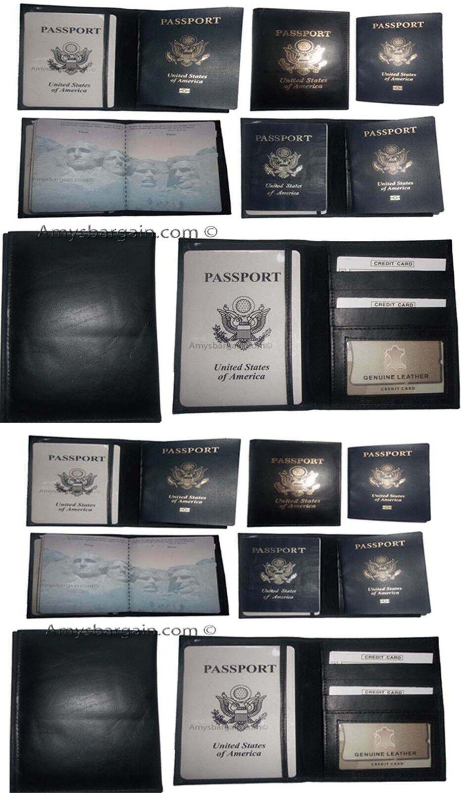 12 New USA pelle Passport Custodia Portafoglio Atm Scheda Id Nuovo