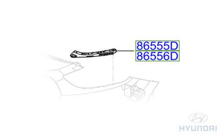 Genuine Hyundai i30 Front Bumper Wing Bracket Passenger Side LH 865522L000