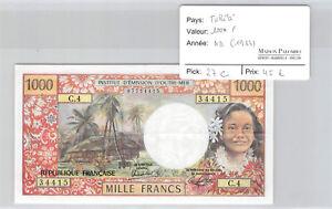 Tahiti Papeete 1000 Franken Undatiert (1983) C.4 N° 07734415 Pick 27c