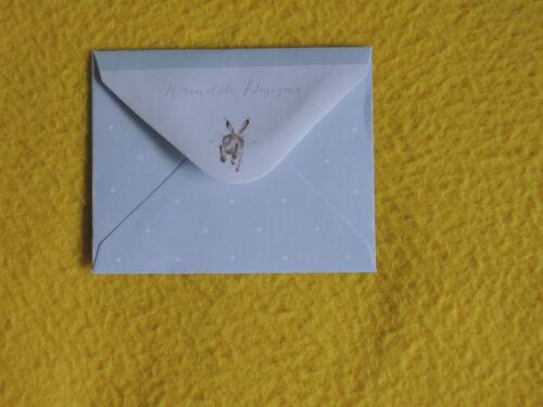1x Klappkarten Giraffen KUSS Umschlag Wrendale Designs Grußkarten MINIatur