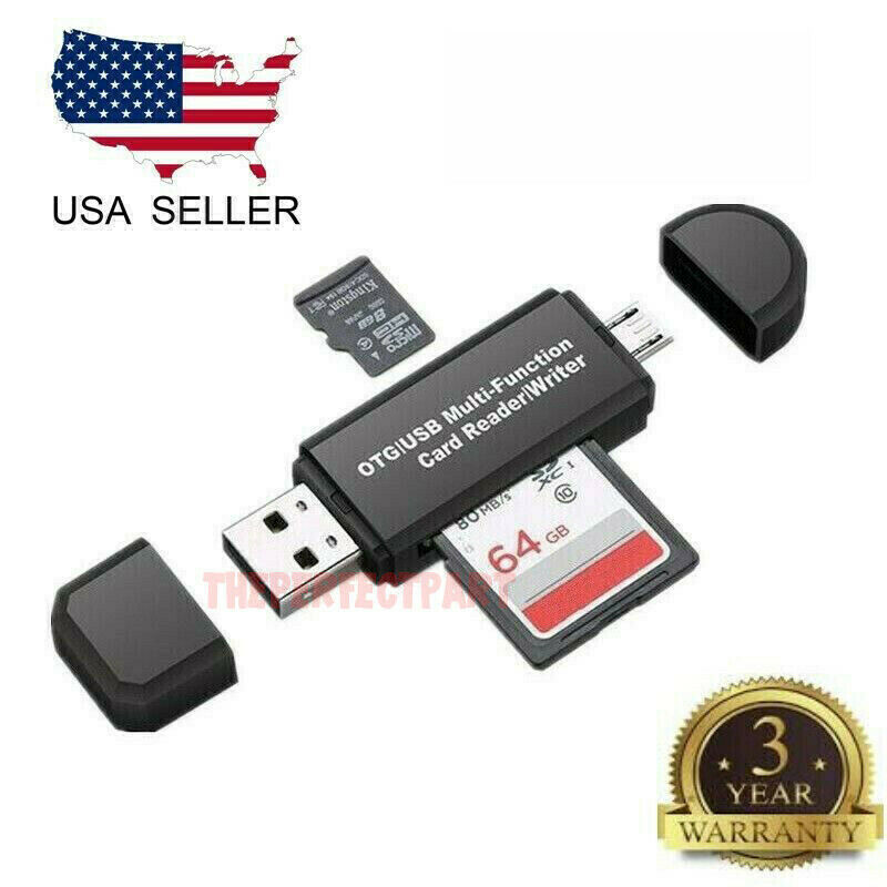 ❤️Jonerytime❤️OTG Micro USB to USB 2.0 Micro SD TF Card Reader Adapter for Android Phone