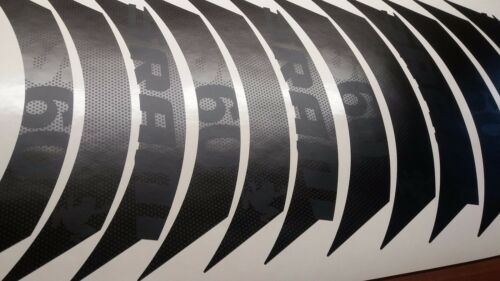 SRAM S80 CUSTOM RIM DECAL SET FOR ONE WHEEL MATTE BLACK STEALTHLOOK VERSION