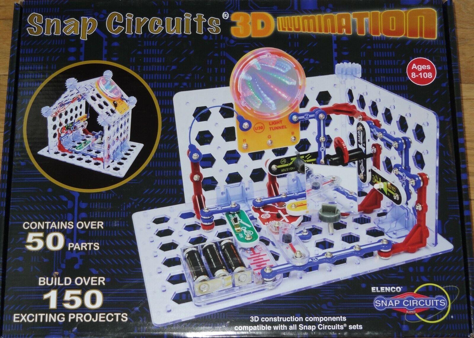Todos los productos obtienen hasta un 34% de descuento. Snap Circuitos 3D 3D 3D iluminación electrónica Aprendizaje Diverdeido proect Kit lista SC3Di  Obtén lo ultimo