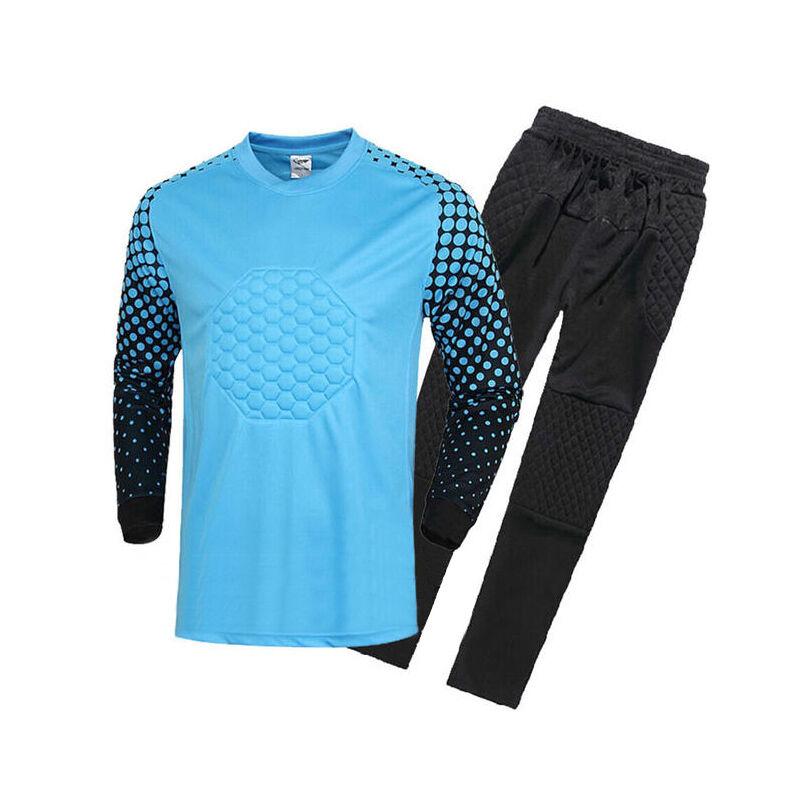 Soccer Goalie Uniform Goalkeeper Long Sleeve Jersey with Pant Adult Asian Size