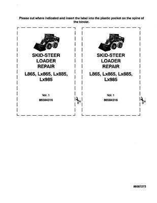 NEW HOLLAND L865 LX865 LX885 LX985 COMPLETE SERVICE MANUAL   eBay