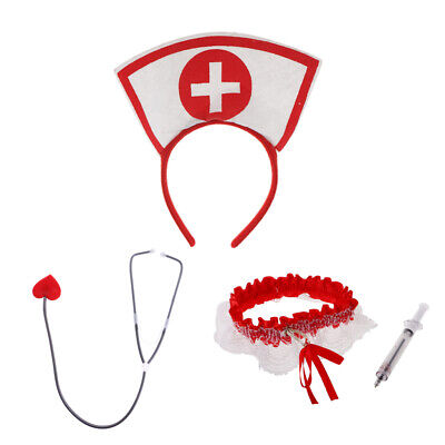 Hospital Doctor Nurse Party Red STETHOSCOPE Costume Accessory