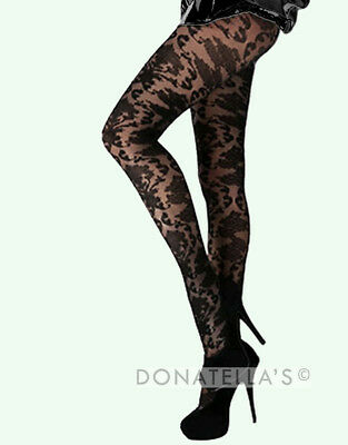 PLUS SIZE LACE TIGHTS pantyhose 20 2xl 2x 22 24 26 3xl 3x 28 30 baroque floral