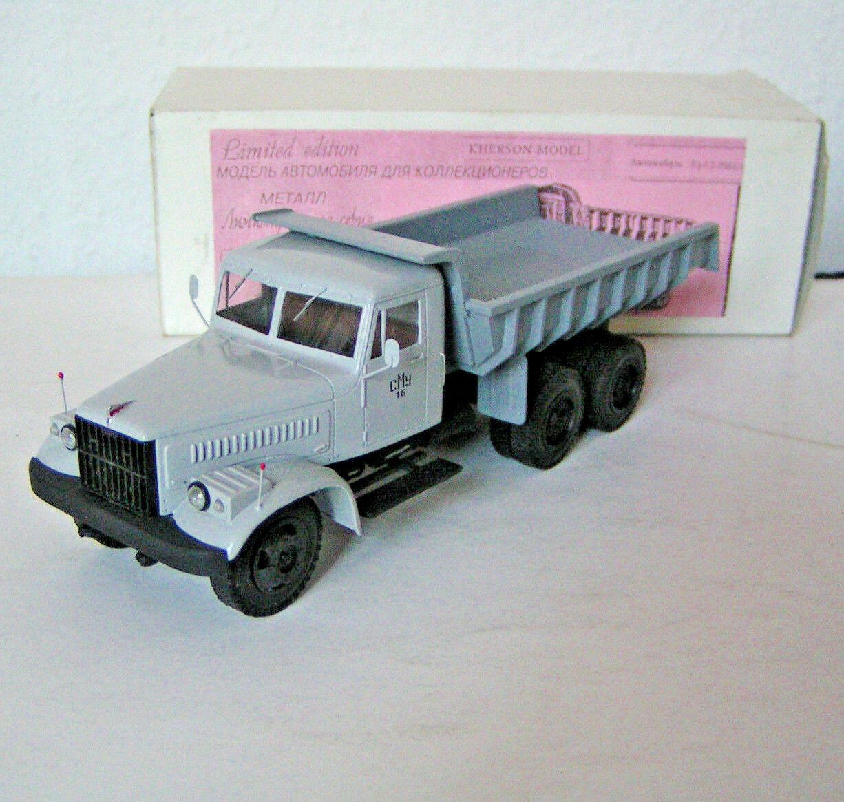 Russ. Modelll 1 43, KrAZ 256 B2 Kipper grau, Handarbeit